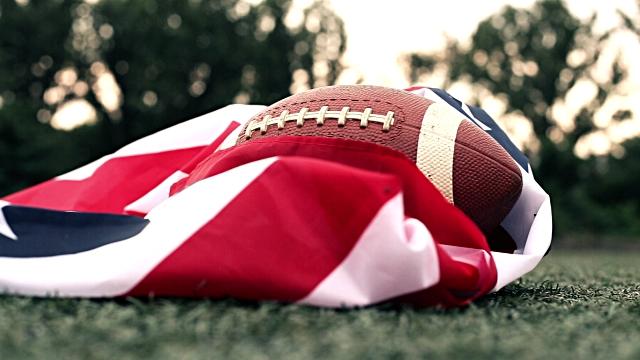 Football and Flag